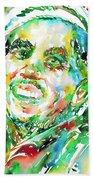 Bob Marley Watercolor Portrait.2 Bath Towel