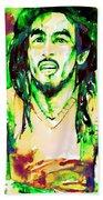 Bob Marley Watercolor Portrait.9 Bath Towel