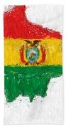 Bolivia Painted Flag Map Bath Towel