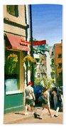 Bonaparte 4 Star Classic French Resto Vieux Montreal Paris Style Bistro Paintings Carole Spandau Art Bath Towel
