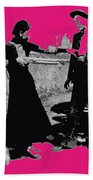 Bonnie Parker Aiming Rifle At Clyde Barrow March 1933 Bath Towel