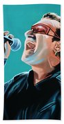 Bono Of U2 Painting Bath Towel