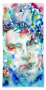 Bono Watercolor Portrait.1 Bath Towel