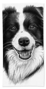 Border Collie Bath Towel