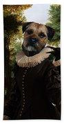 Border Terrier Art Canvas Print Bath Towel