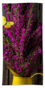 Boronia With Yellow Butterfly Bath Towel