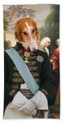 Borzoi - Russian Wolfhound Art Canvas Print Bath Towel