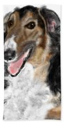 Borzoi Handsome Bath Towel