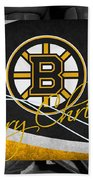 Boston Bruins Christmas Bath Towel