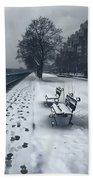 Boston Longfellow Bridge-snow Cityscape V2 Bath Towel