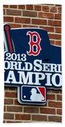 Boston Red Sox World Champions Bath Towel