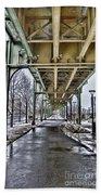Boston Streetcar Overpass-cambridge V2 Bath Towel