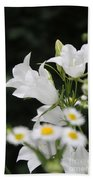Botanical Beauty In White Bath Towel