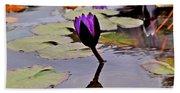 Botanical Garden Lotus Flowers Bath Towel