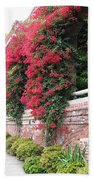 Bougainvillea Wall In San Francisco Bath Towel