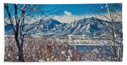 Boulder Colorado Winter Season Scenic View Bath Towel