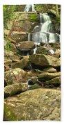 Boulders Logs And Lower Laurel Falls Bath Towel