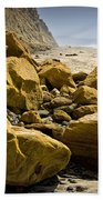 Boulders On The Beach At Torrey Pines State Beach Bath Towel
