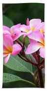 Bouquet Of Pink Plumeria Bath Towel