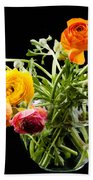 Bouquet Of Ranunculus Bath Towel
