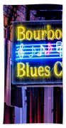 Bourbon Street Blues Bath Towel