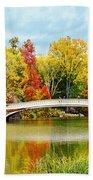 Bow Bridge Autumn In Central Park  Bath Towel