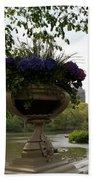 Bow Bridge Flowerpot And San Remo Nyc Bath Towel