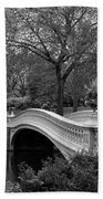Bow Bridge Nyc In Black And White Hand Towel