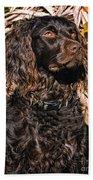 Boykin Spaniel Portrait Bath Towel