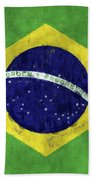 Brazil Flag Bath Towel