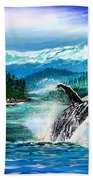 Breaching Humpback Whale Bath Towel