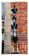 Bremen Musicians Statue Hand Towel