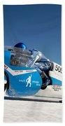 Brett De Stoop On His Suzuki Gt 750 At Speed Bath Towel