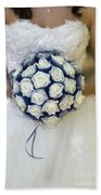 Bride With Flowers Bath Towel
