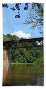 Bridge Crossing The Potomac River Bath Towel