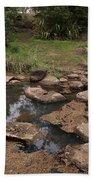 Bridge Of Rocks Across The River Bath Towel