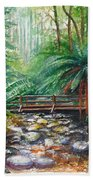 Bridge Over Badger Creek Bath Towel