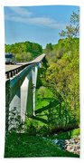 Bridge Over Birdsong Hollow At Mile 438 Of Natchez Trace Parkway-tennessee Bath Towel