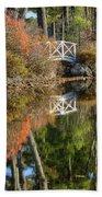 Bridge Over Fall Waters Bath Towel