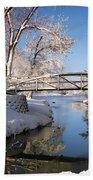 Bridge Over Icy Water Bath Towel