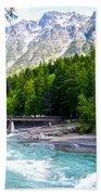 Bridge Over Mcdonald Creek In Glacier Np-mt Hand Towel