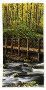 Bridge Over Oconaluftee Bath Towel