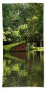 Bridge Over The Wey Navigation In Surrey Bath Towel