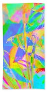 Bright Abstracted Banana Leaf - Square Bath Towel