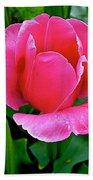 Bright Pink Tulip In Kuekenhof Flower Park-netherlands Bath Towel