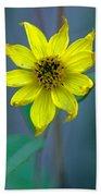 Bright Yellow Wildflower Bath Towel