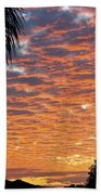 Brilliant Sunset During Winter Bath Towel