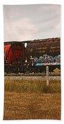 Bringing In The Wheat Canadian Railroad Bath Towel