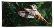 Broad-tailed Hummingbird Bath Towel