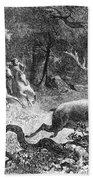 Bronze Age, Hunting Scene Bath Towel